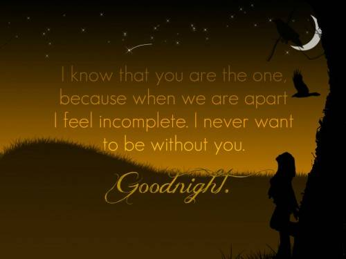 a good night message to your boyfriend